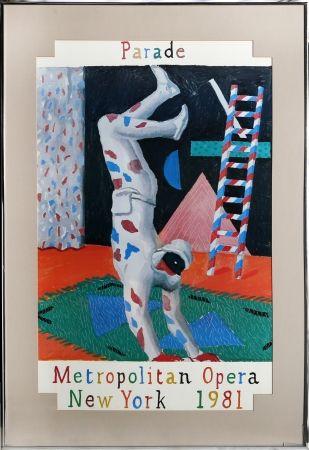 Screenprint Hockney - Parade, Metropolitan Opera