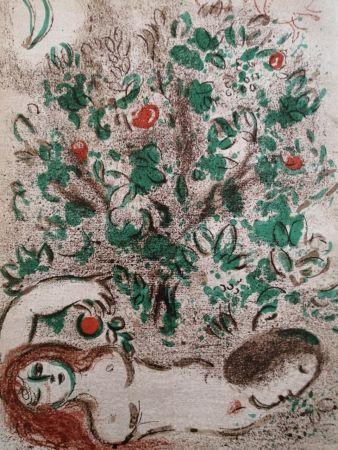 Lithograph Chagall - Paradis