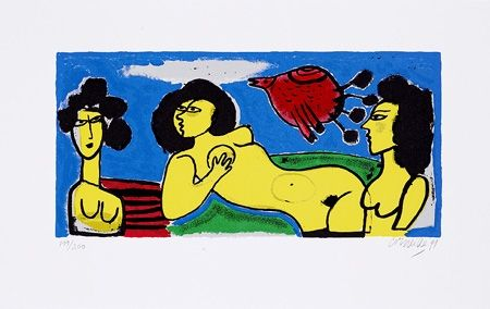Screenprint Corneille - Paradise de femmes