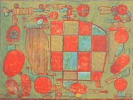 Lithograph Courtin - Parent du coté gauche