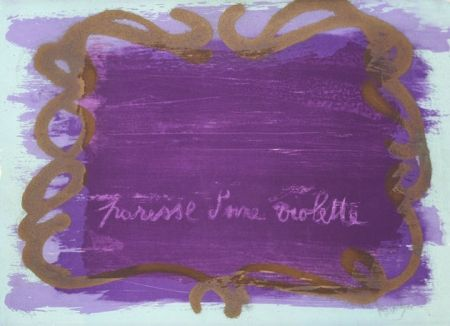 Lithograph Messagier - Paresse D'une Violette