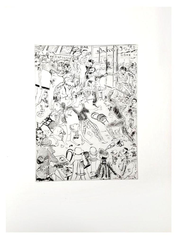 Lithograph Foujita - Paris