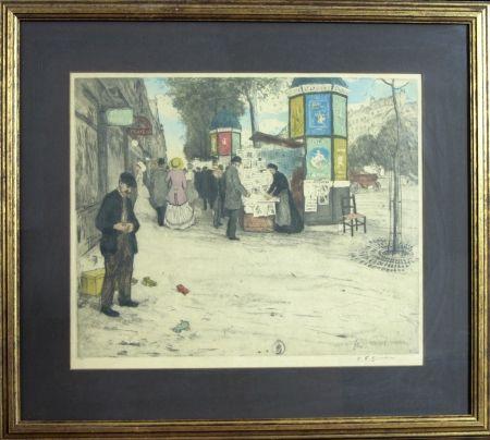 Etching And Aquatint Simon - PARIS