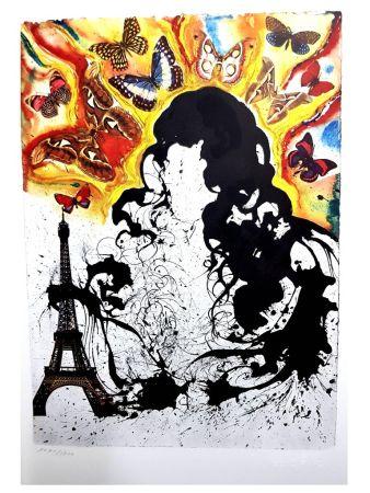 Lithograph Dali - Paris
