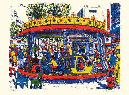 Lithograph Boisrond - Paris-ci aussi, le manège