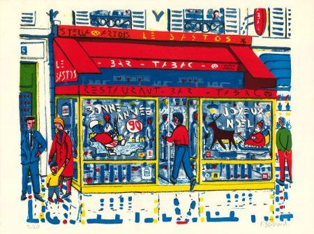Lithograph Boisrond - Paris-ci aussi, Le Tabac