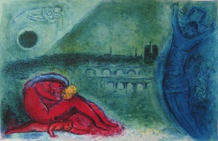 Lithograph Chagall - Paris - Quai de la Tournelle