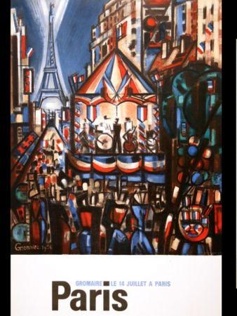 Poster Gromaire - PARIS 14 JUILLET