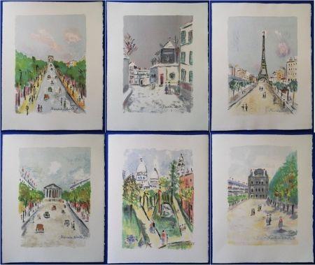 Lithograph Utrillo - Paris Capitale (10 lithographies)