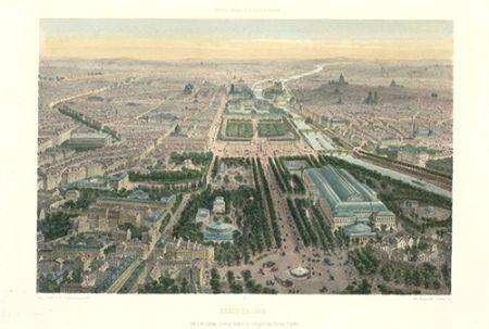 Lithograph Benoist - Paris en 1860