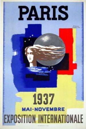 Lithograph Carlu - Paris Exposition Internationale    1937
