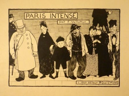 Lithograph Vallotton - Paris intense (Frontispiz)