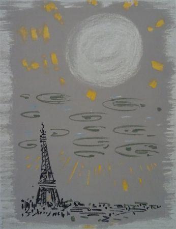 Lithograph Masson - Paris: La Tour Eiffel