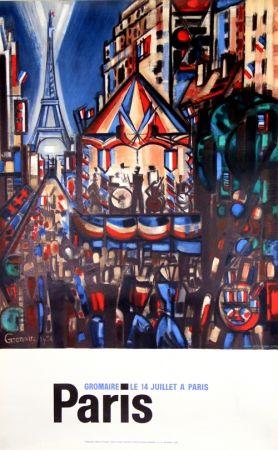 Lithograph Gromaire - Paris le 14 Juillet