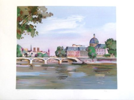 Lithograph Torre - Paris l'institut