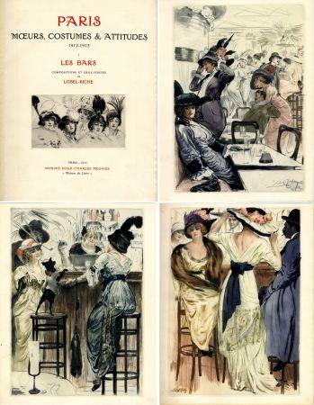Illustrated Book Lobel-Riche - PARIS. MŒURS, COSTUMES ET ATTITUDES, 1912-1913. LES BARS (M. Guillemot).