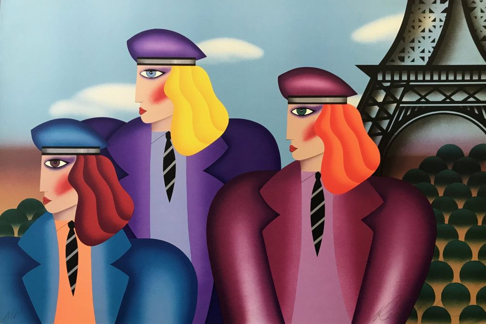 Lithograph Morris - PARIS RAGE