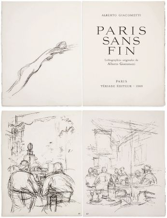 Illustrated Book Giacometti - PARIS SANS FIN. 150 lithographies originales (1969)