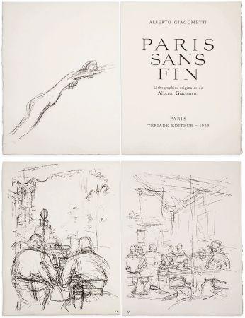 Illustrated Book Giacometti - PARIS SANS FIN. 150 lithographies originales (1969)