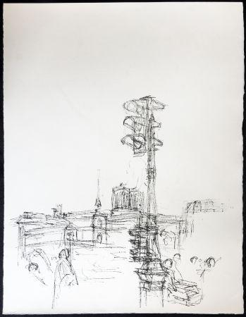 Lithograph Giacometti - Paris Sans Fin. 75ème planche (1961). 1964. Tirage à part.
