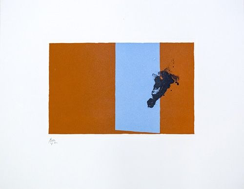Lithograph Motherwell - Paris Suite III - Autumn