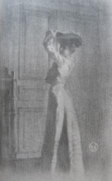 Lithograph Neumont - Parisienne