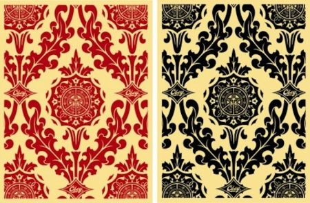 Screenprint Fairey - Parlor Pattern Set (Cream and Red & Cream and Black)