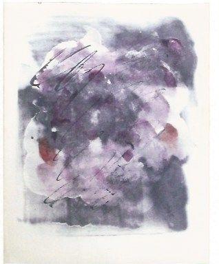 Screenprint Fautrier - Paroles paintes