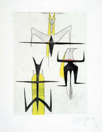 Etching And Aquatint Lam - PAROLES PEINTES (1959) 10 gravures originales de Max Ernst, Jacques Hérold, Wifredo Lam, Sébastian Matta et DorotheaTanning. Poèmes d'Alain Bosquet.