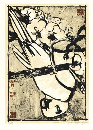 Lithograph Tongzhengang - Parrot