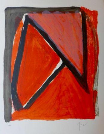 Lithograph Van Velde - Partage du rouge