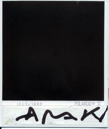 Photography Araki - Parte trasera de la polaroid