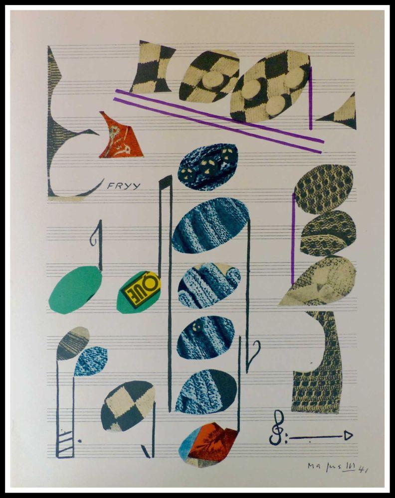 Lithograph Magnelli - PARTITION MUSICALE