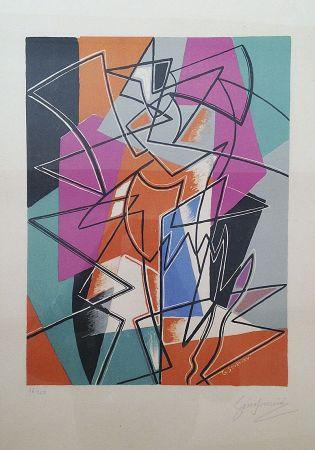 Lithograph Severini - Pas de Deux