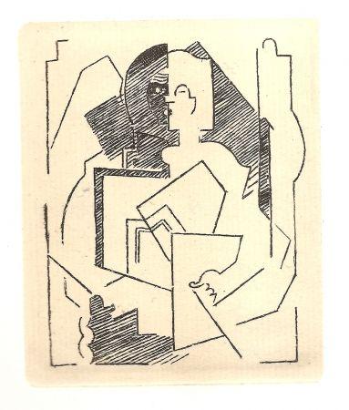 Etching Gleizes - Pascal.  Pensées sur l'homme et Dieu (restrikes of 22 etchings)
