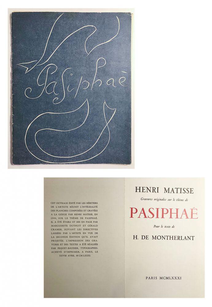 Illustrated Book Matisse - Pasiphae - Livret de présentation en reproduction
