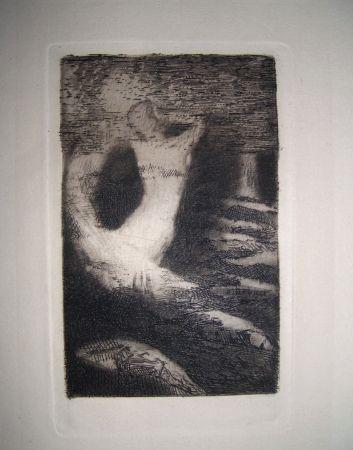 Engraving Redon - Passage d'une ame