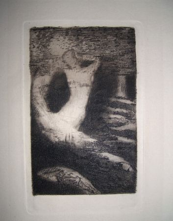 Engraving Redon - Passage d'une ame