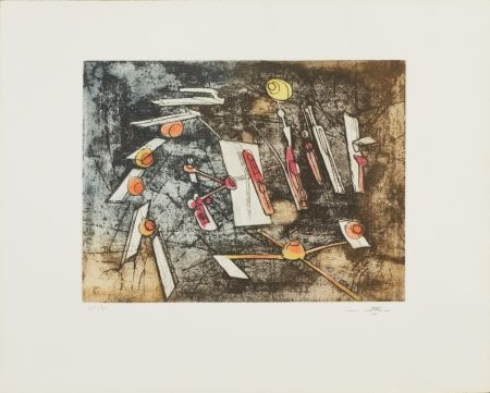 Etching And Aquatint Matta - Passage et sage du couple