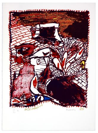 Lithograph Alechinsky - Passe Muraille