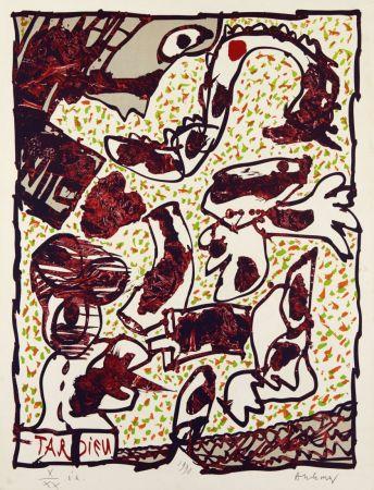 Lithograph Alechinsky - Passe muraille (Tardieu)