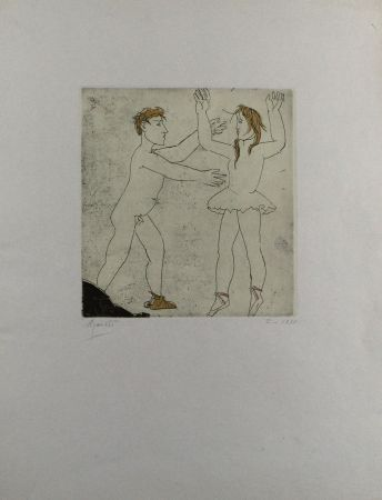 Etching And Aquatint Manzu - Passo di danza I