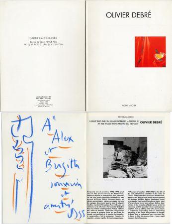 No Technical Debré - Pastel original sur un catalogue d'exposition (1993)