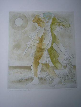 Etching And Aquatint Finsterer - Pastoral-mediterran I