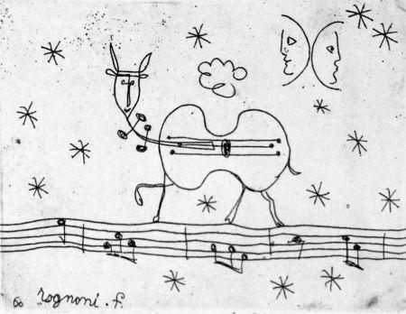 Engraving Rognoni - Pastorale