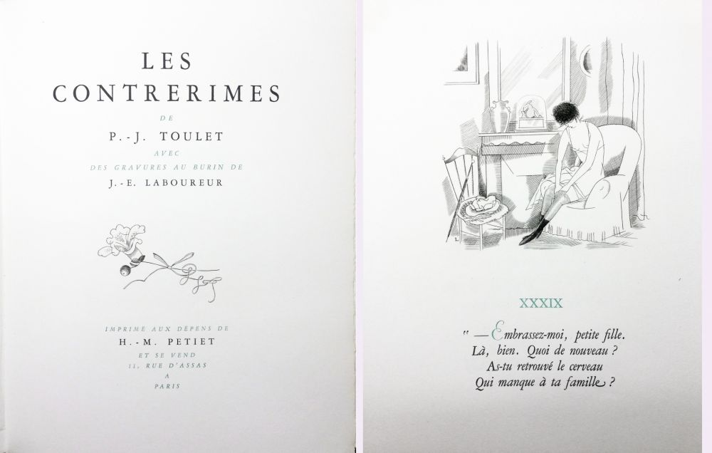 Illustrated Book Laboureur - Paul-Jean Toulet : LES CONTRERIMES. 63 gravures originales (1930)