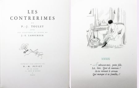 Illustrated Book Laboureur - Paul-Jean Toulet : LES CONTRERIMES. 63 gravures originales (1930)