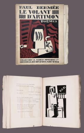 Illustrated Book Marcoussis - Paul Dermée : LE VOLANT D'ARTIMON. POÈMES. 1 des 10 Hollande avec envoi.