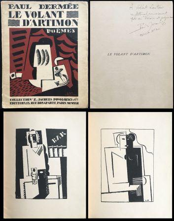 Illustrated Book Marcoussis - Paul Dermée : LE VOLANT D'ARTIMON. POÈMES. Exemplaire avec envoi
