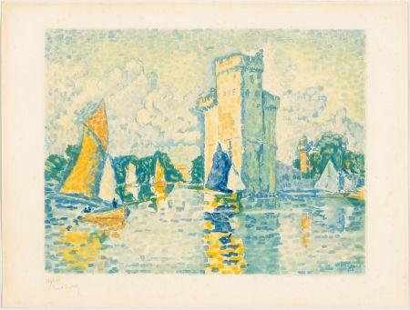 Aquatint Signac - Paul Signac, Le Port de La Rochelle. 1924. Aquatinte signée.
